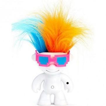 Танцуващ детски робот WowWee Elektrokidz бял, включени батерии, танцуваща коса