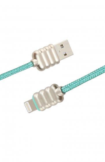 Luxo Ripple Lightning USB Cable-Green