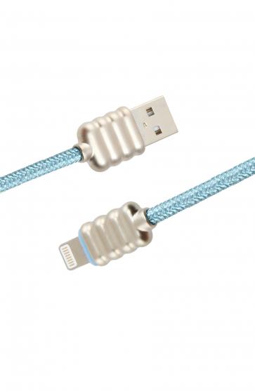 Luxo Ripple Lightning USB Cable-Blue
