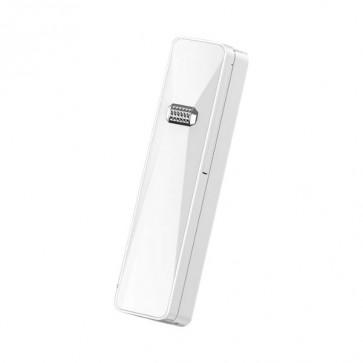Smart Selfie Stick M2 Mini White, LED светлини, Bluetooth свързване, регулируема светлина