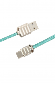 Luxo Ripple-Type-C-USB-Cable-Green