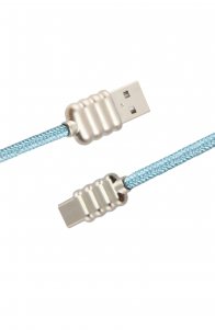 Luxo Ripple-Type-C-USB-Cable-Blue
