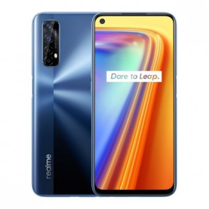 "Смартфон Realme 7 Blue, Android 10, 64MP Quad камера, 6,5"", 6+64GB + кейс и протектор"