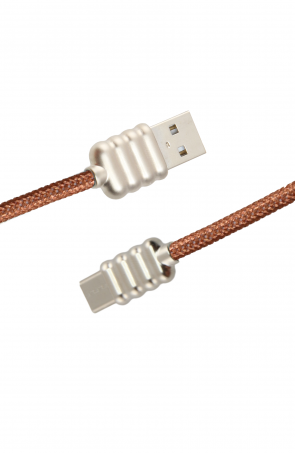 Luxo Ripple-Type-C-USB-Cable-Brown