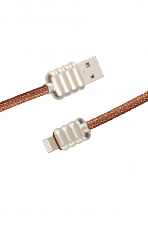 Luxo Ripple Lightning USB Cable-Brown