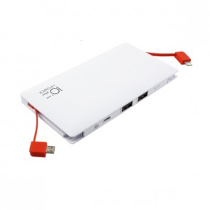 Външна батерия Smart Power ZG-096B Power bank 10000 mAh, Micro input charging, 1 USB изход, Бяла