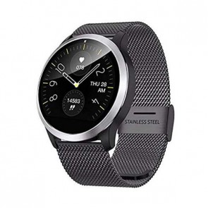 Смарт часовник, Smartwatch Lemfo Z03 Black, 180mAh Battery, 1.22 inch IPS 240*240, IP68