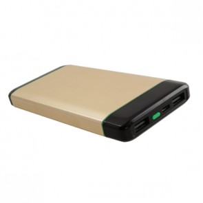 Външна батерия Smart Power SKM1008 Power bank 8000 mAh, Micro input charging, 1 USB изход, Златиста
